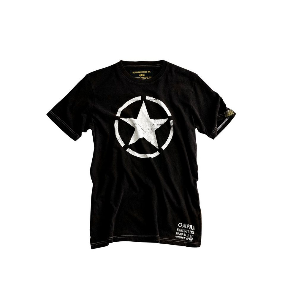 ALPHA INDUSTRIES T-Shirt »Star T« in black