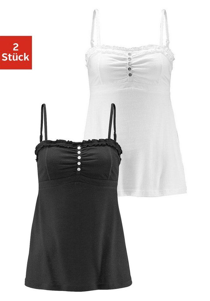 Beach Time Tops (2 Stck.) in schwarz + weiß