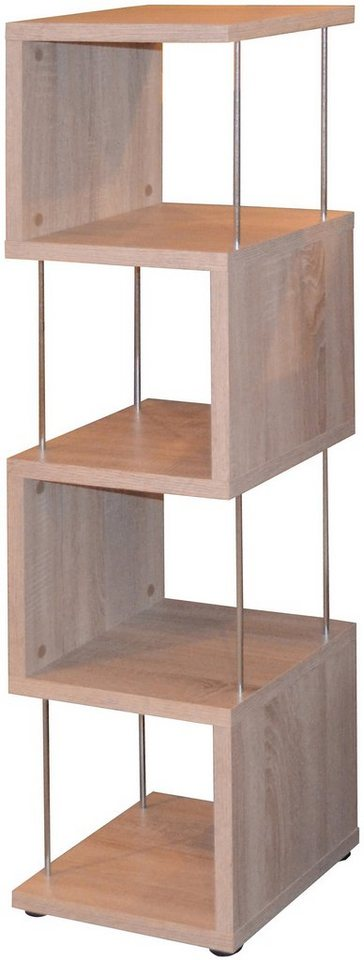 m usbacher regal luna 33 cm breite mit 4 f chern. Black Bedroom Furniture Sets. Home Design Ideas
