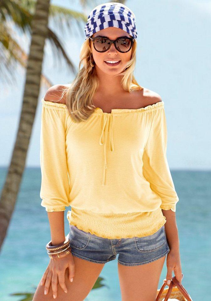 LASCANA Carmenshirt in gelb