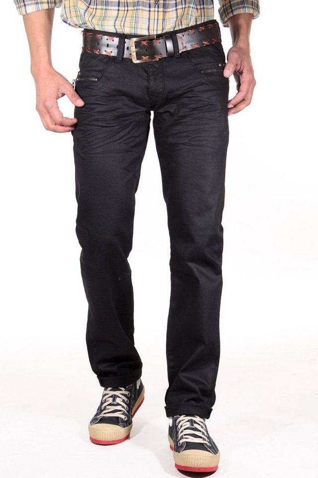 Bright Jeans Hüftjeans (Stretch) in schwarz