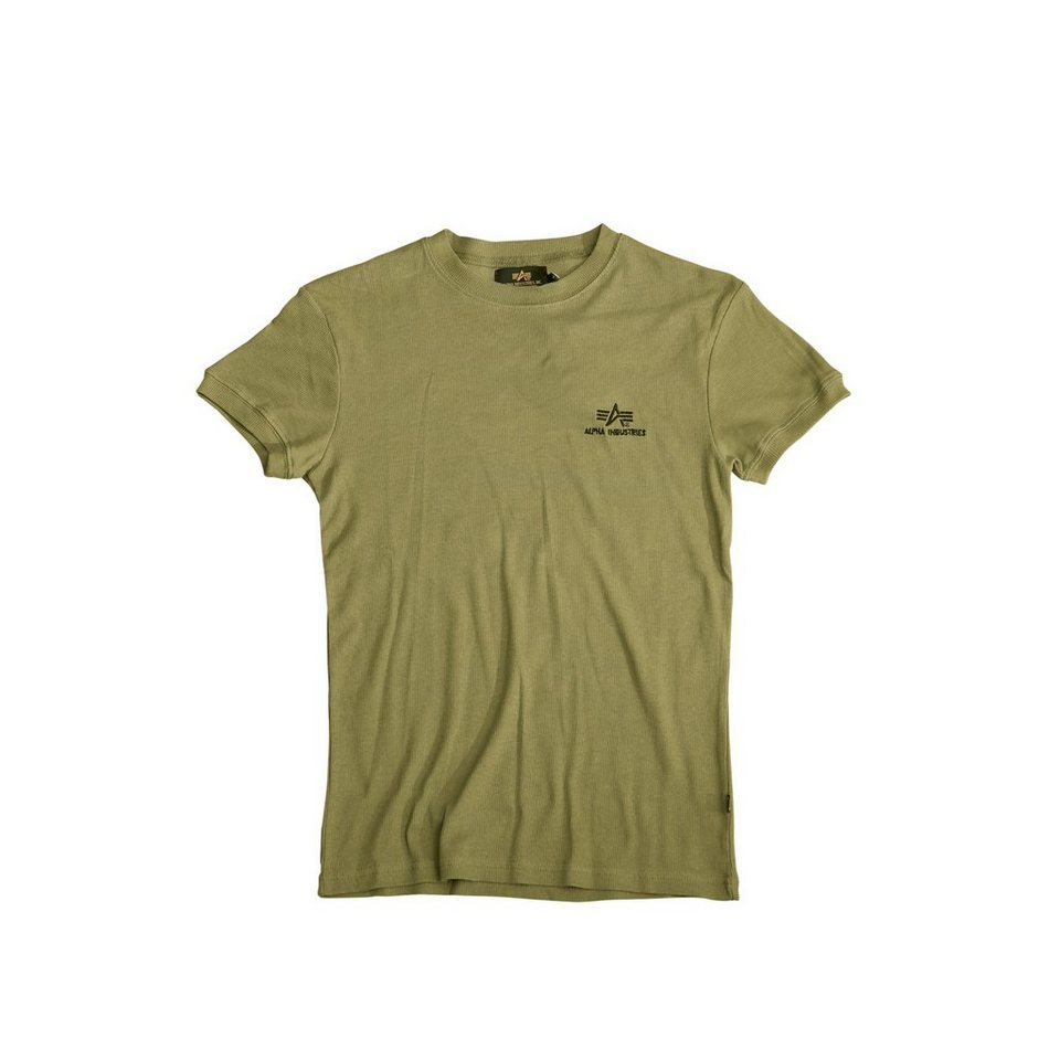 ALPHA INDUSTRIES T-Shirt »Sport Rib« in olive