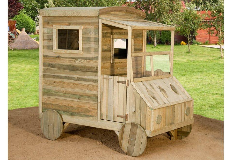 Dein Spielplatz Spielhaus Lieferwagen aus Holz, »Kinderhaus Michael«