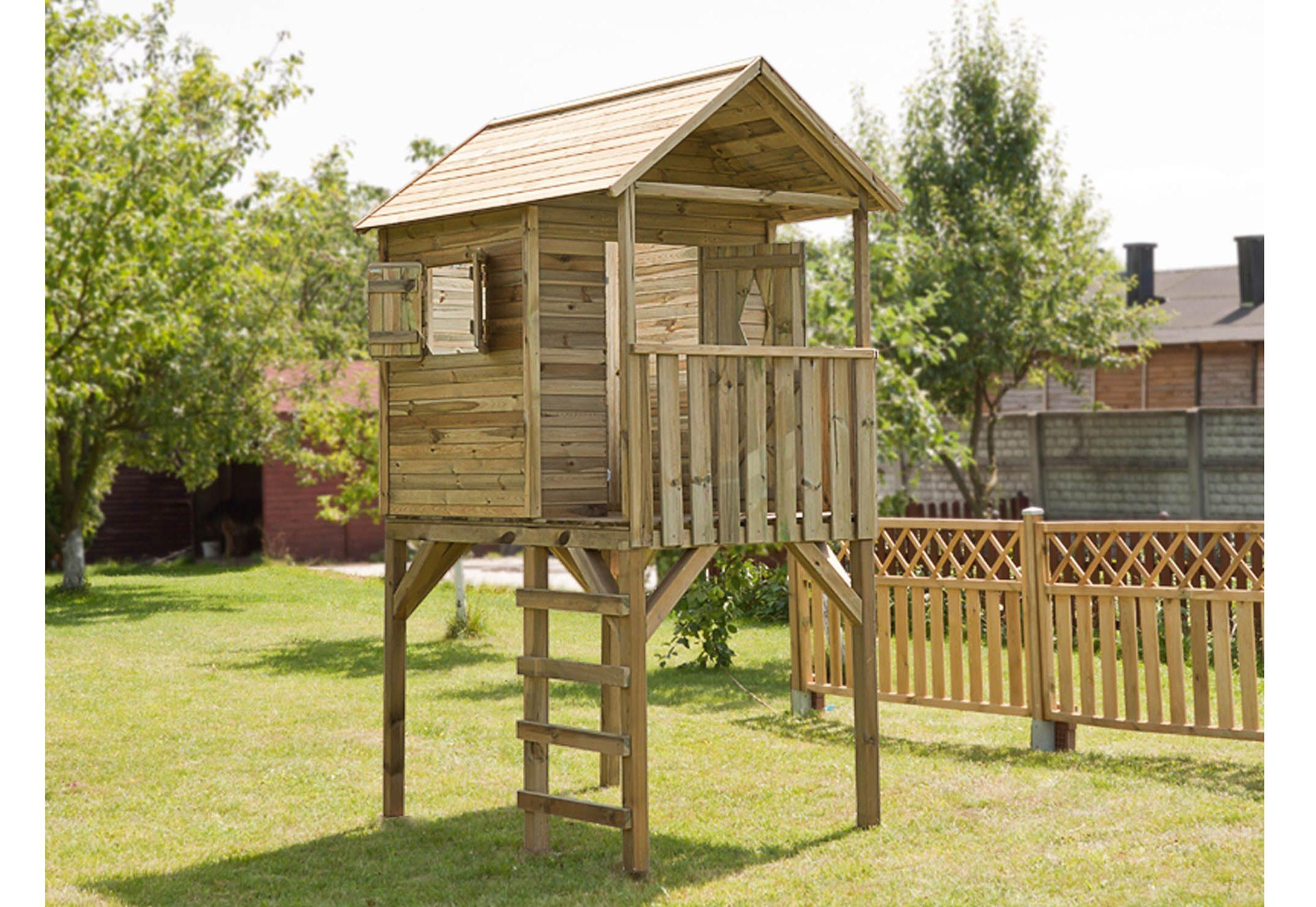 Dein Spielplatz Spielhaus aus Holz »Kinderhaus Andy auf Stelzen«