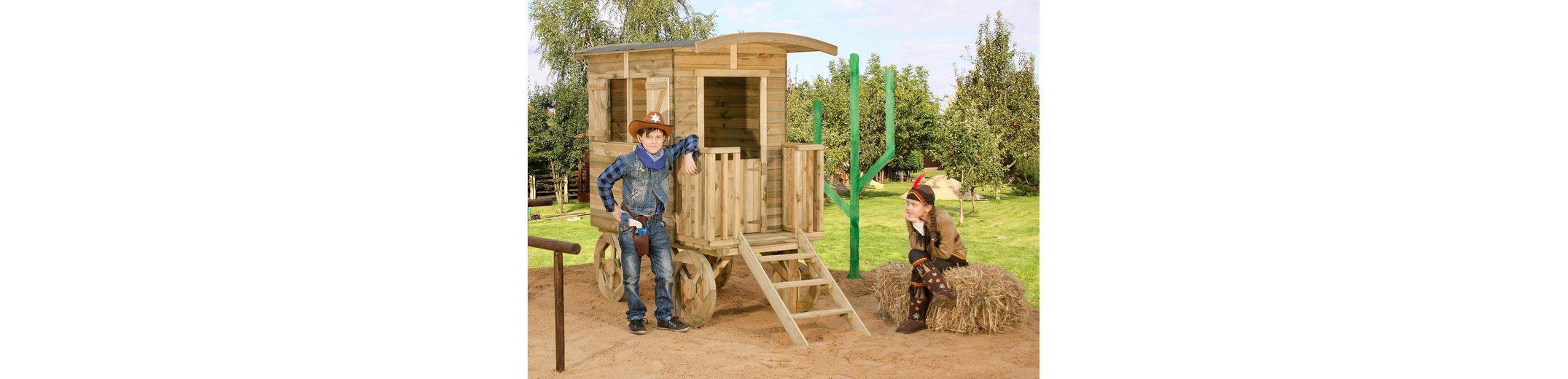 Dein Spielplatz Spielhaus aus Holz, »Planenwagen Revolverheld«