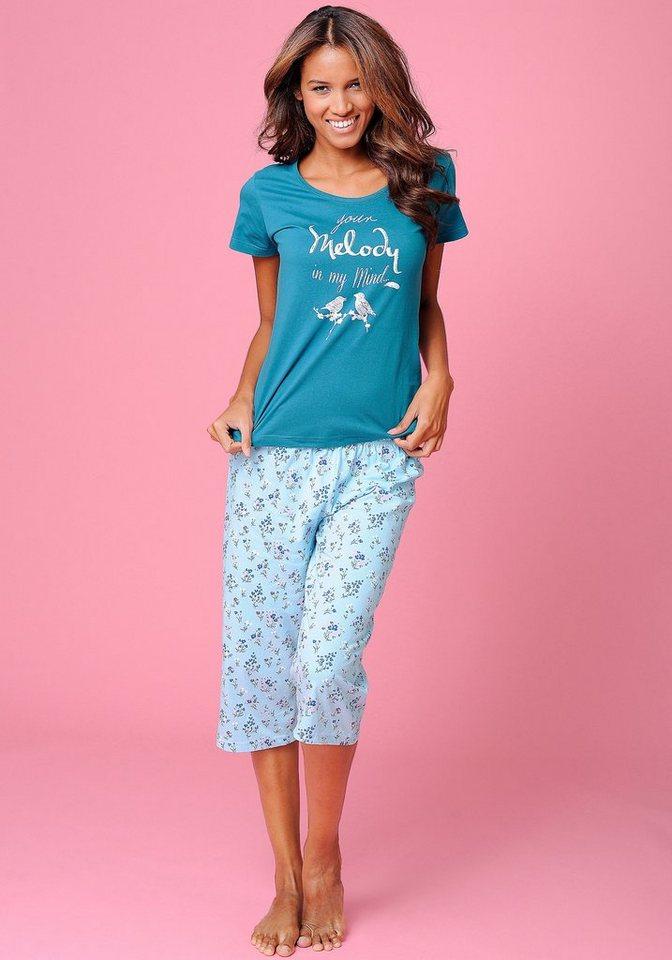 petite fleur capripyjama im zarten bl mchendesign otto. Black Bedroom Furniture Sets. Home Design Ideas
