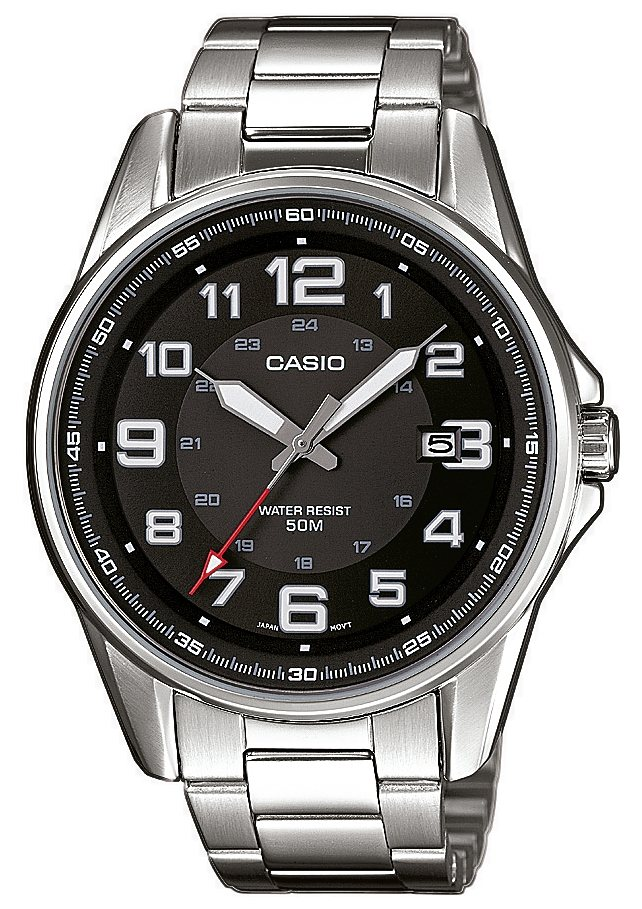 "Casio Collection, Armbanduhr, ""MTP-1372D-1BVEF"" in silberfarben"