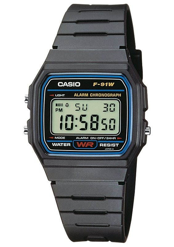 Casio Collection Chronograph »F-91W-1YEF« in schwarz
