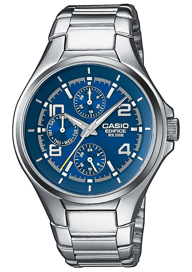 "Casio Edifice, Multifunktionsuhr, ""EF-316D-2AVEF"" in silberfarben"