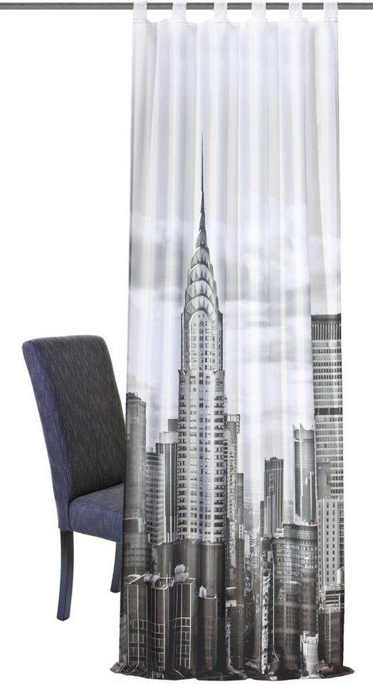 Vorhang, Home Wohnideen, »Ragusa«, mit Schlaufen (1 Stück) in schwarz-weiß