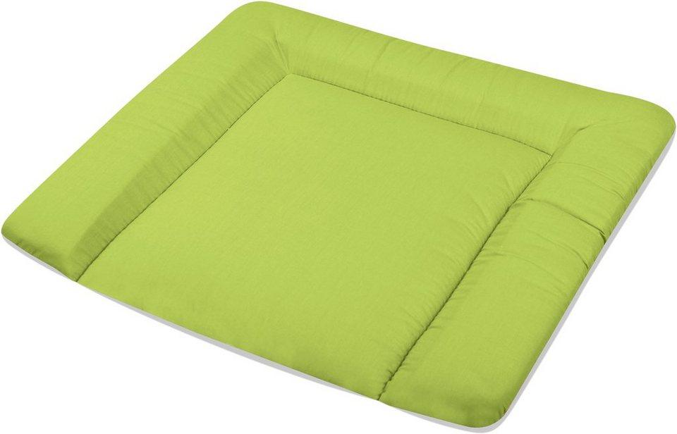 Wickelauflage, »beschichtet uni«, Zöllner in grün