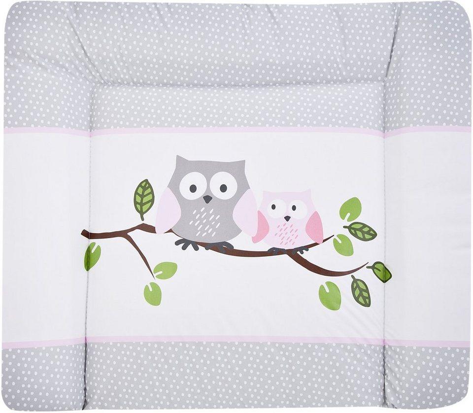Wickelauflage, »Kleine Eulen«, Zöllner in rosa