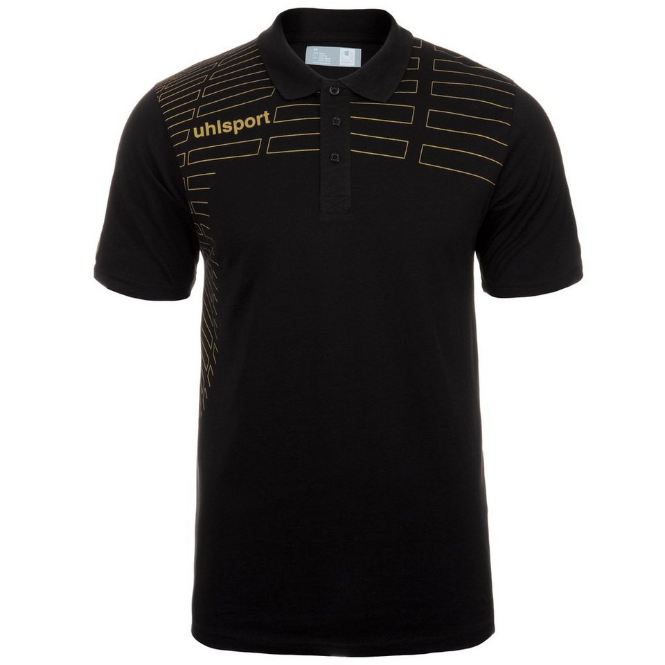 UHLSPORT Match Polo Shirt Herren in schwarz/gold