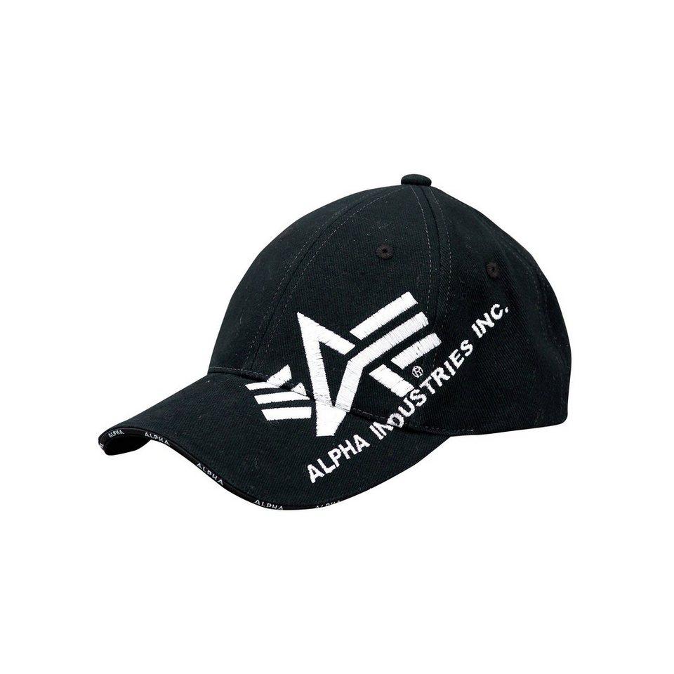 ALPHA INDUSTRIES Mütze »Big A Cross Cap« in black