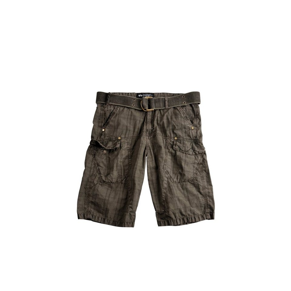 ALPHA INDUSTRIES Short »Checked Short« in greyblack