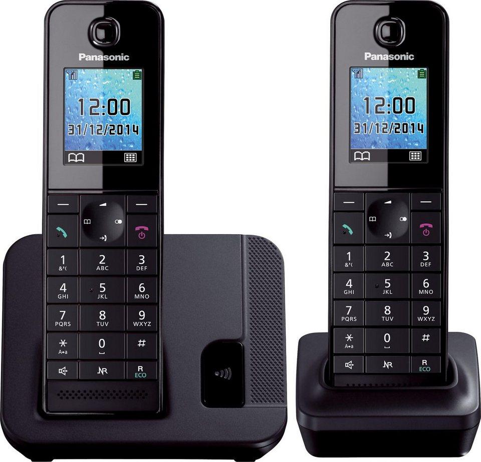 Panasonic KX-TGH212 DUO Schnurloses DECT Telefon-Set in schwarz