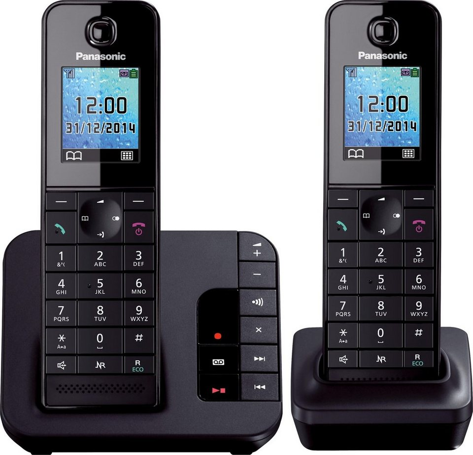 panasonic kx tgh222 duo schnurloses dect telefon set mit. Black Bedroom Furniture Sets. Home Design Ideas