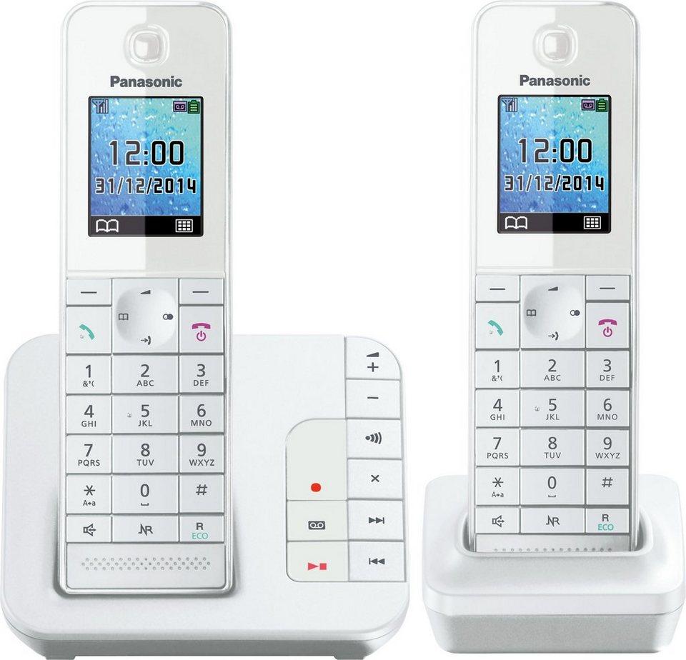 panasonic kx tgh222 duo schnurloses dect telefon set mit ab online kaufen otto. Black Bedroom Furniture Sets. Home Design Ideas