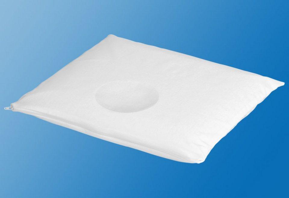 Kopfkissen für Babys & Kleinkinder, »Dryfeel mit Kuhle«, Zöllner in weiß