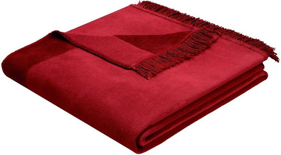 Wohndecke, Biederlack, »Orion Cotton Plus«, mit Fransen versehen in rosso