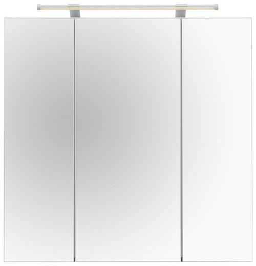 Schildmeyer Spiegelschrank »Dorina« Breite 70 cm, 3-türig, LED-Beleuchtung, Schalter-/Steckdosenbox, Glaseinlegeböden, Made in Germany