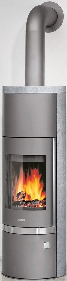 Justus Kaminofen »Profiset Faro Aqua«, Speckstein, 8,5 kW, Wasserführend, ext. Luftzufuhr in grau