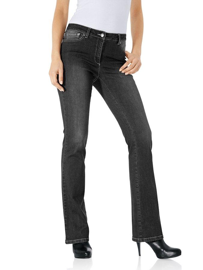 ASHLEY BROOKE by Heine Bodyform-Bootcut-Jeans in grey stone