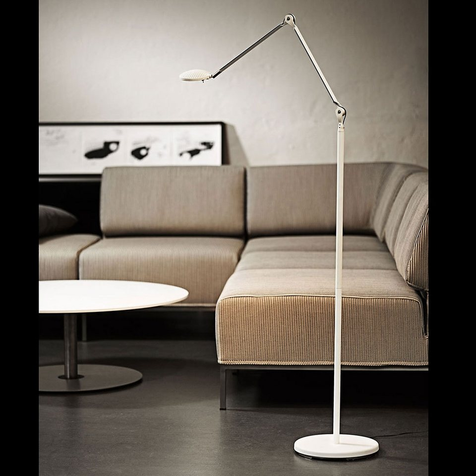 licht trend led stehlampe 140cm verstellbar weiss matt online kaufen otto. Black Bedroom Furniture Sets. Home Design Ideas