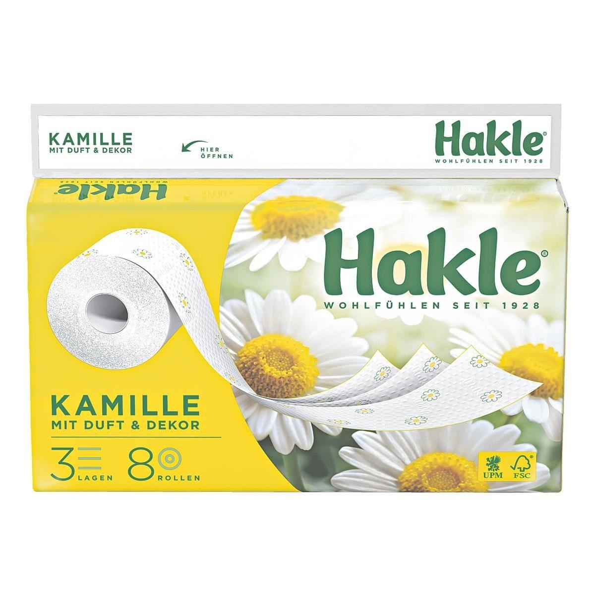 Hakle Toilettenpapier 3-lagig - 8 Rollen »Kamille«