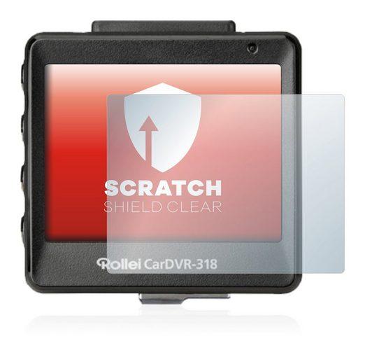 upscreen Schutzfolie »für Rollei CarDVR 318«, Folie Schutzfolie klar anti-scratch