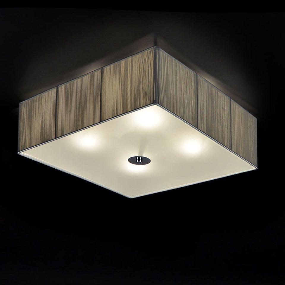 s luce stoff deckenleuchte twine 4 flg 45x45 silber online kaufen otto. Black Bedroom Furniture Sets. Home Design Ideas