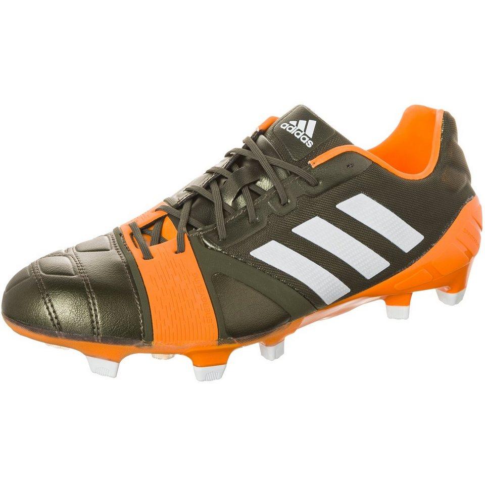 adidas Performance nitrocharge 1.0 TRX FG Fußballschuh Herren in dunkelgrün / orange