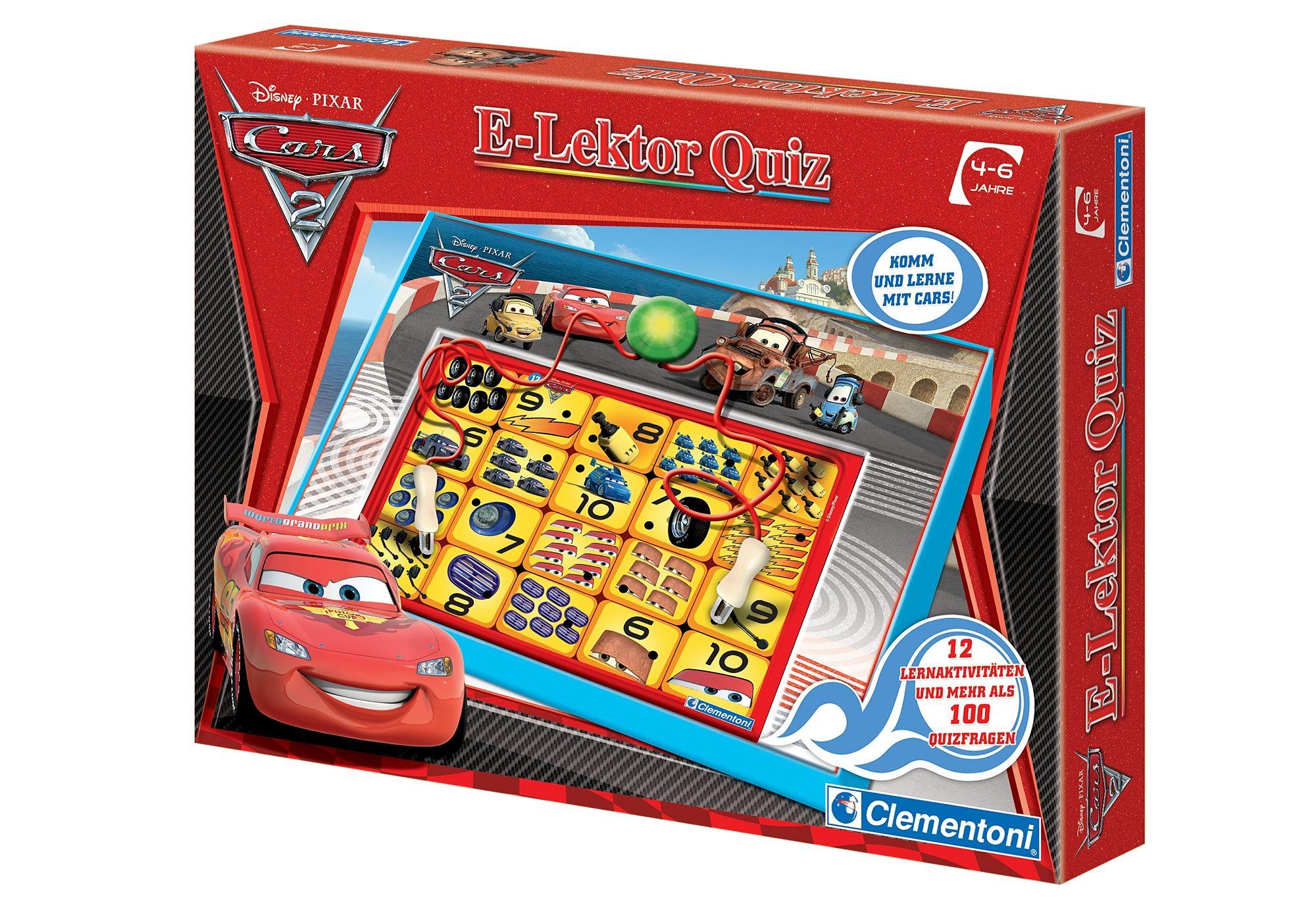 Elektronisches Spiel, »Cars 2 E Lektor Quiz«, Clementoni