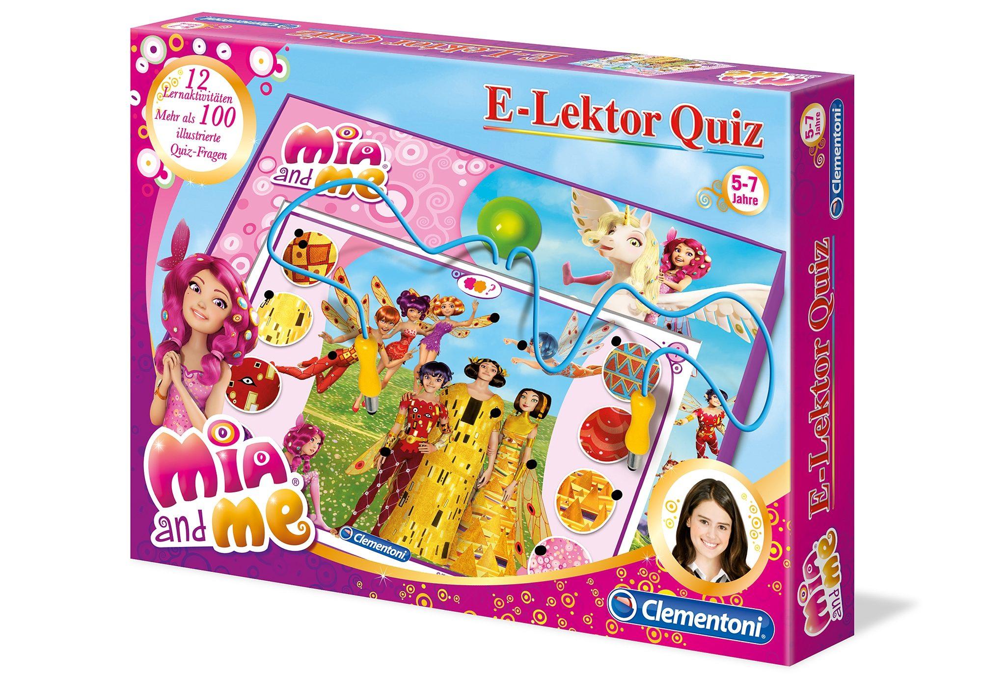 Elektronisches Spiel, »Mia and me E Lektor Quiz«, Clementoni