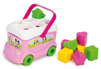 Clementoni® Steckspielzeug »Baby Clementoni Disney Baby Minnie Sortierbus«, (10-tlg), Made in Europe