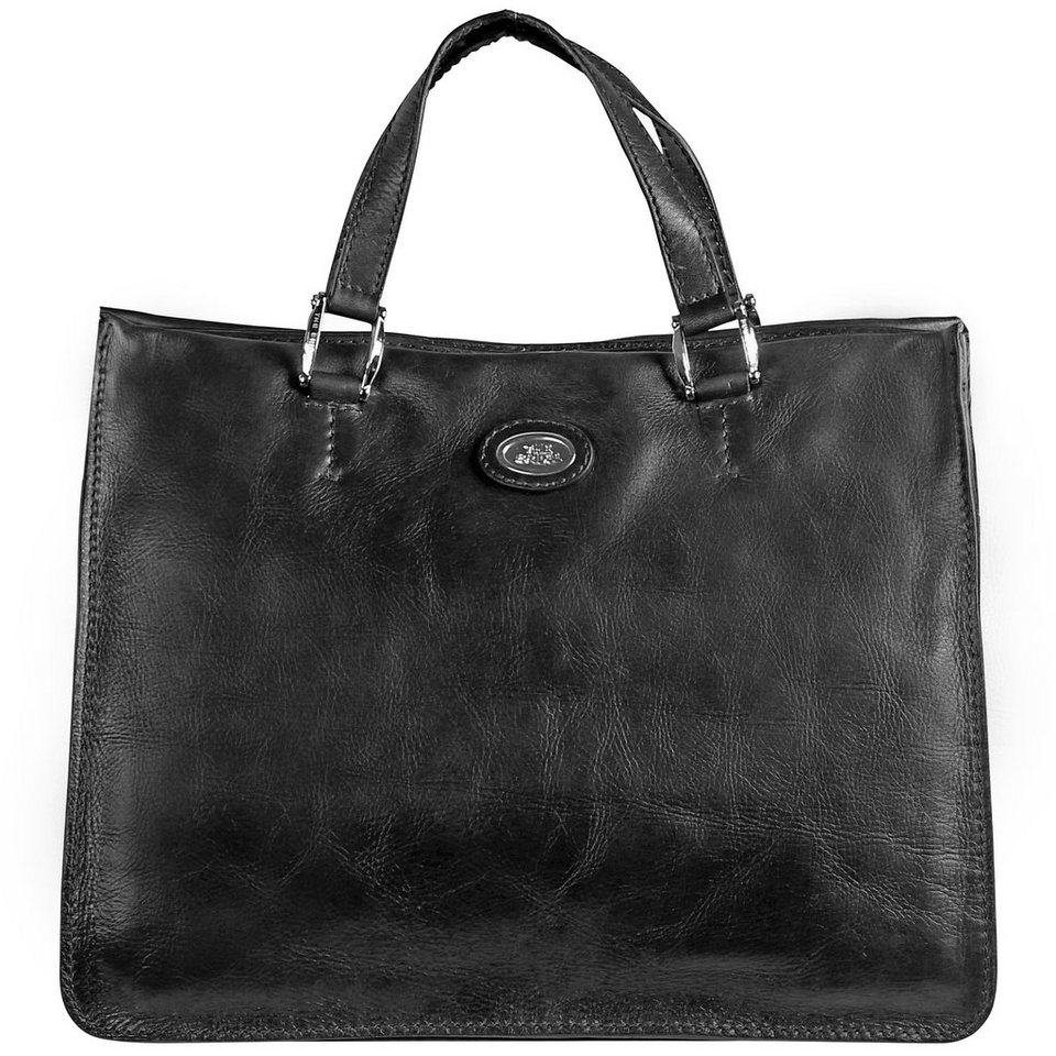 The Bridge Saddlery Donna Henkeltasche Handtasche Leder 37 cm in nero