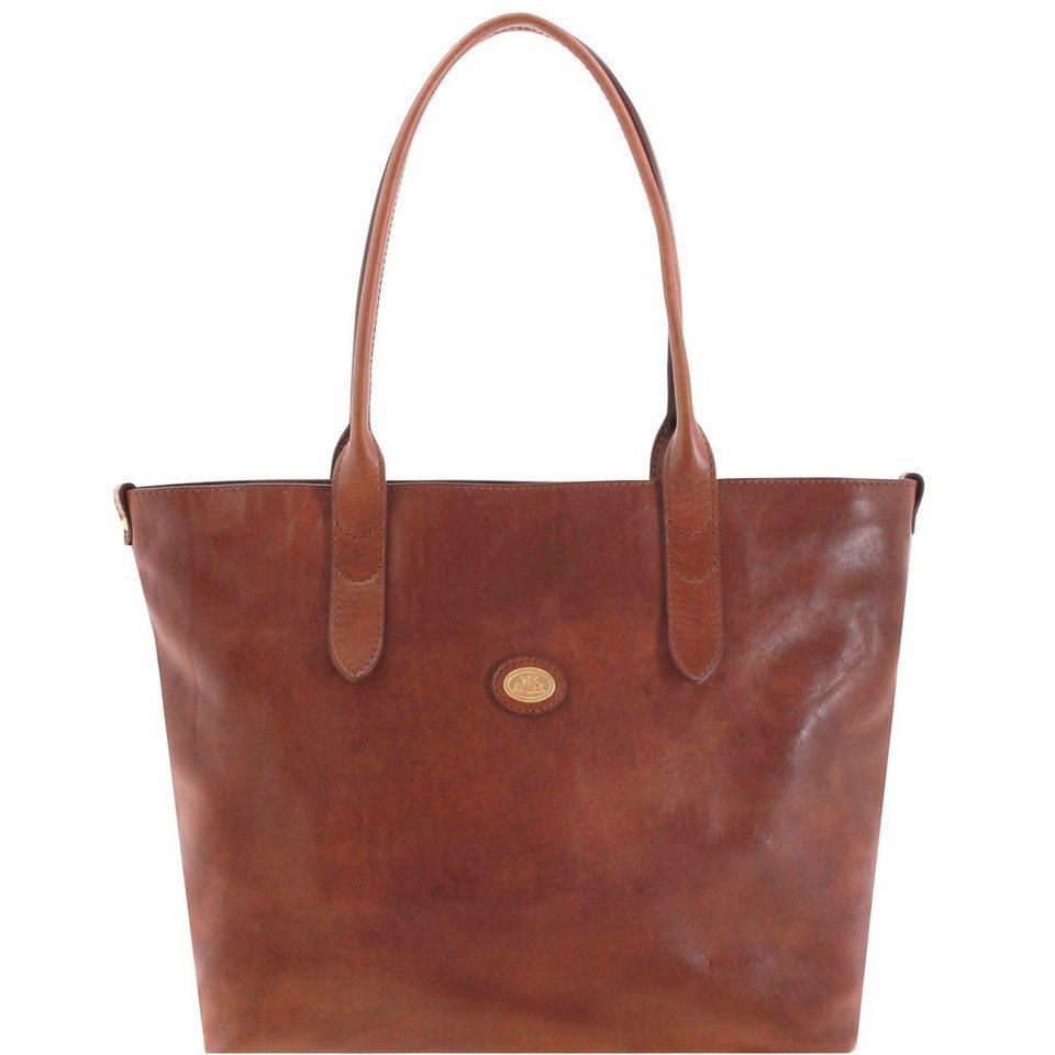 The Bridge Essentials Donna Shopper Tasche Leder 35 cm in marrone