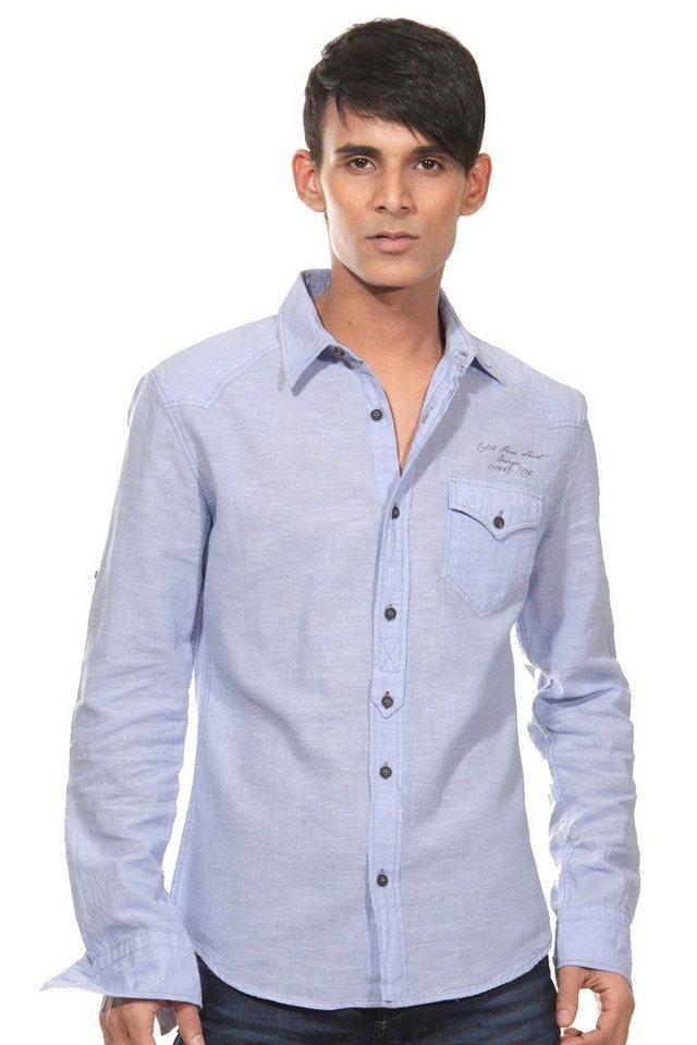 CATCH Langarmhemd slim fit in flieder