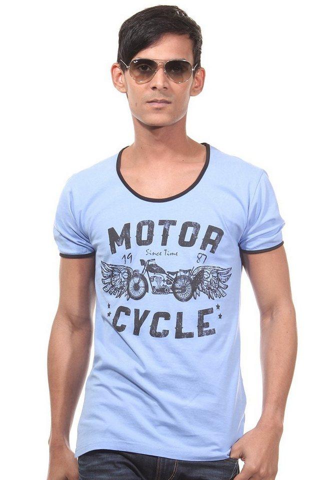 CATCH T-Shirt Rundhals slim fit in blau