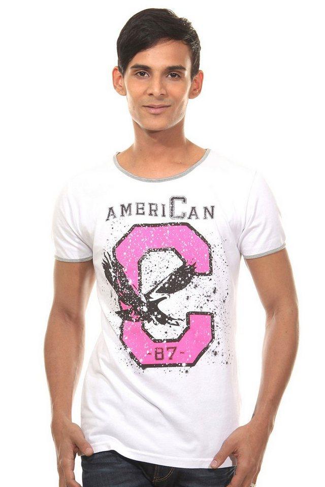 CATCH T-Shirt Rundhals slim fit in weiss