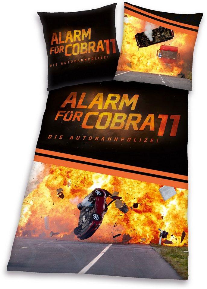 Bettwäsche »Alarm für Cobra 11«, mit Schriftzug in schwarz