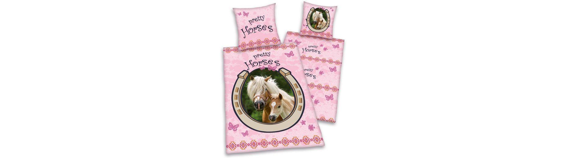 Kinderbettwäsche, Young Collection, »Pretty Horses«, für Pferdeliebhaber