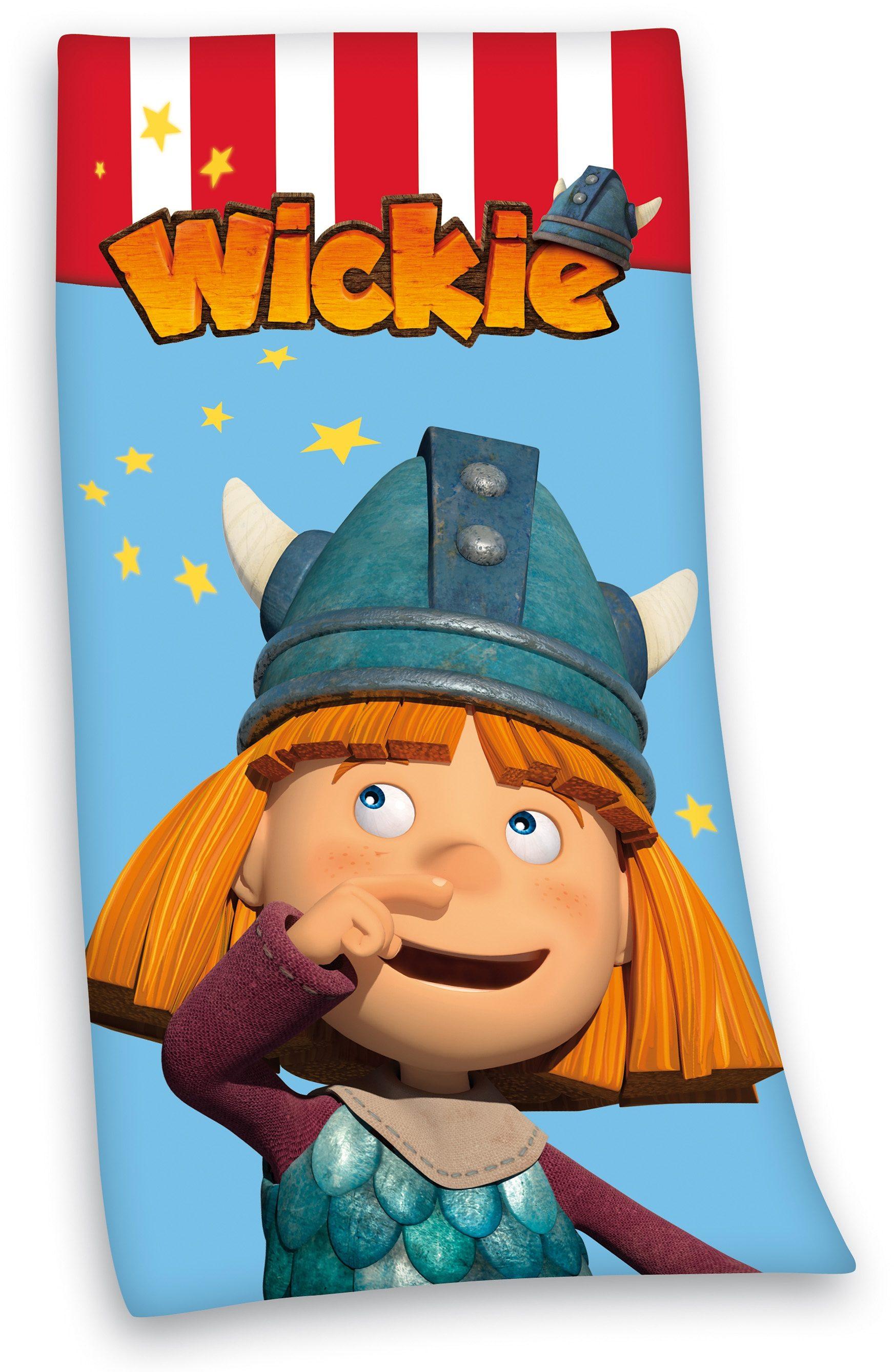 Strandtuch, »Hey Wickie«, mit Wicky der Wikinger Motiv