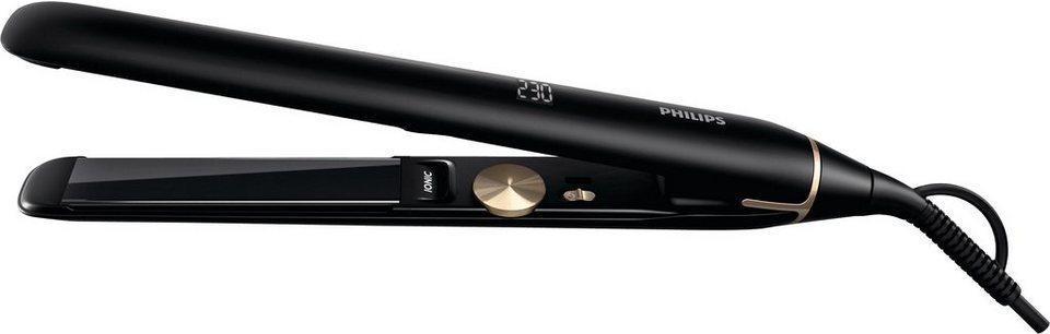 Philips Haarglätter HPS930/00 Pro Serie, Ionenfunktion, Titanbeschichtung in schwarz