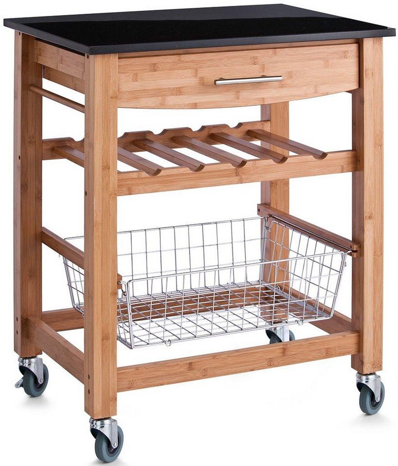 Küchenrollwagen, Home affaire in braun/anthrazit