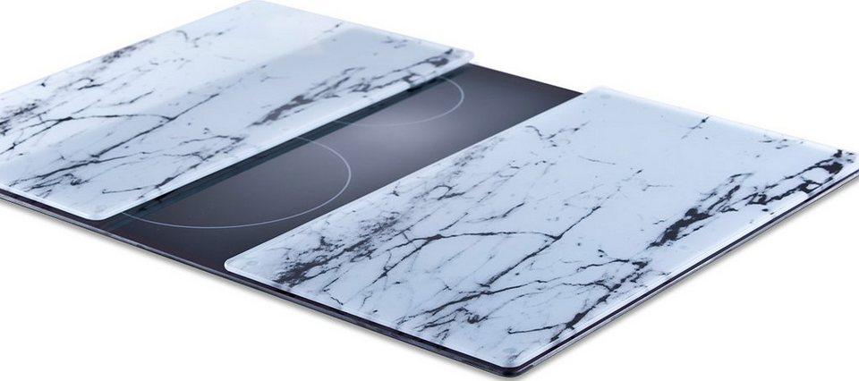 Schneideplatten (2er Set), Zeller in weiß