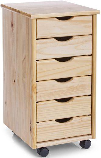 home affaire rollcontainer mit 6 schubladen kaufen otto. Black Bedroom Furniture Sets. Home Design Ideas