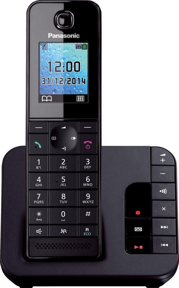 Panasonic KX-TGH220 Schnurloses DECT Telefon mit AB in schwarz