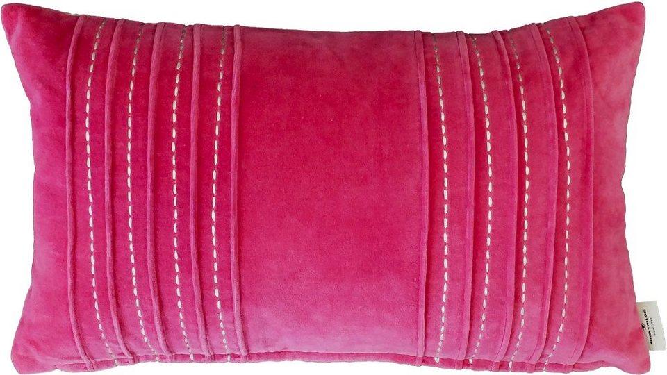 Kissenhülle, Tom Tailor, »Plush« (1er Pack) in pink