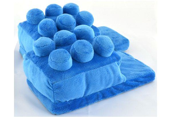 Hausschuhe, blau - in 2 Größen, »Bausteine«, United Labels